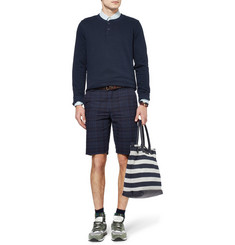 A.P.C. Cotton and Linen-Blend Jersey Henley Sweatshirt