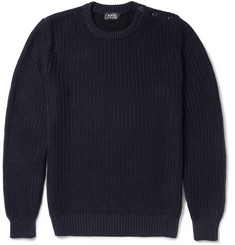 A.P.C. Ribbed Linen and Cotton-Blend Sweater