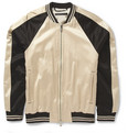 Marc by Marc Jacobs - Panelled Cotton-Blend Satin Bomber Jacket