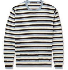 Marc by Marc Jacobs Striped Silk, Cotton and Cashmere-Blend Sweater