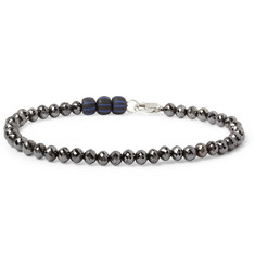 Yuvi Black Diamond and Glass Bead Bracelet