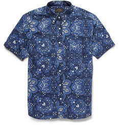Beams Plus Slim-Fit Printed Short-Sleeved Cotton Shirt