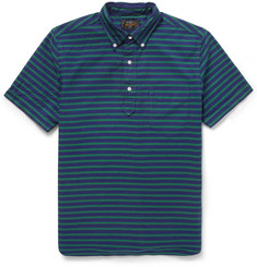 Beams Plus Striped Cotton Oxford Short-Sleeved Shirt