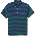 Beams Plus - Striped Cotton Oxford Short-Sleeved Shirt