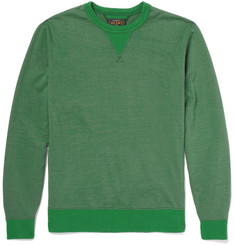Beams Plus Rib-Trimmed Cotton-Jersey Sweatshirt