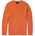 Beams Plus - Cable-Knit Linen and Cotton-Blend Sweater