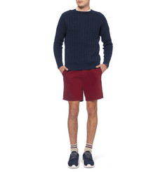Beams Plus Cable-Knit Linen and Cotton-Blend Sweater