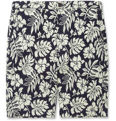 Beams Plus Patterned Jacquard Cotton-Blend Jersey Shorts