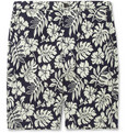 Beams Plus - Patterned Jacquard Cotton-Blend Jersey Shorts