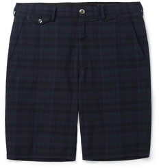 Beams Plus Slim-Fit Plaid Cotton Shorts
