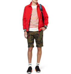 Beams Plus Slim-Fit Camouflage-Print Cotton Shorts
