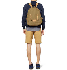 Marc by Marc Jacobs Leather-Trimmed Canvas Backpack
