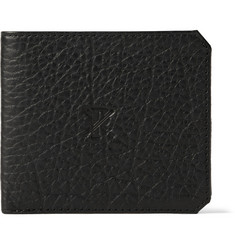 Parabellum Embossed Full-Grain Bison Leather Billfold Wallet