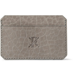 Parabellum Embossed Full-Grain Bison Leather Card Holder