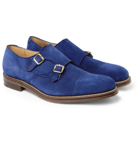 London Collections. Men Katie Eary x Grenson Suede Monk-Strap Shoes