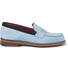 London Collections. Men Sibling x Grenson Nubuck Penny Loafers