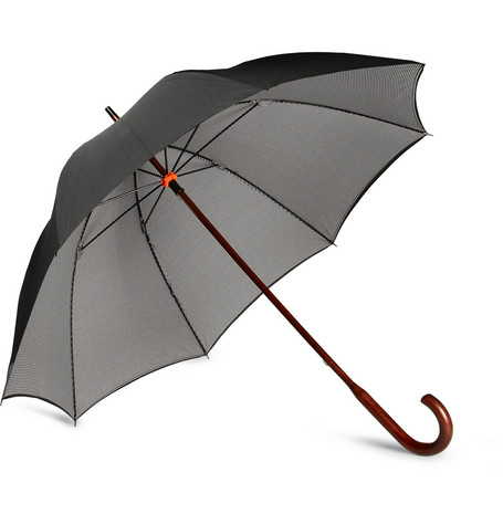 London Undercover Houndstooth-Lined Umbrella