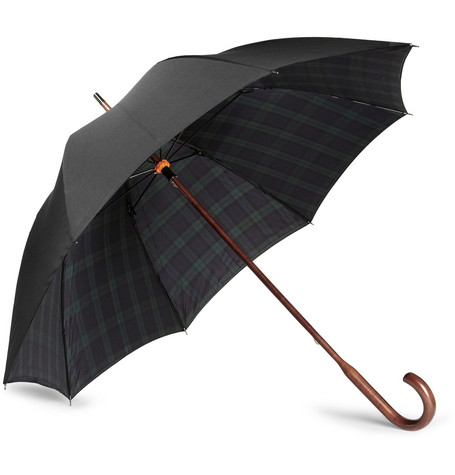 London Undercover Plaid-Lined Umbrella