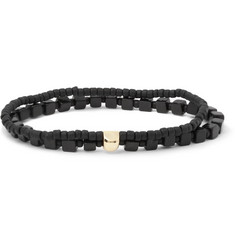 Luis Morais Gold-Plated, Onyx and Glass Bead Bracelet