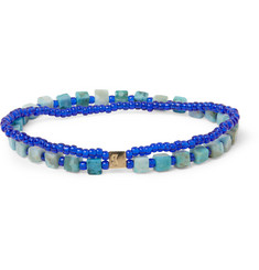 Luis Morais Gold-Plated, Turquoise and Glass Bead Bracelet
