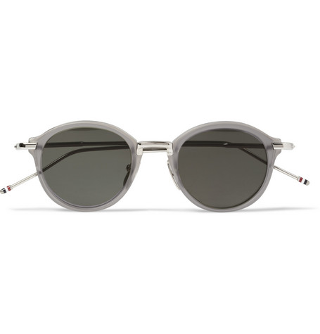 Thom Browne Round-Frame Acetate and Metal Sunglasses
