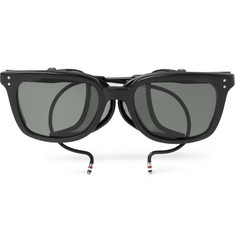 Thom Browne Rectangle-Frame Acetate Sunglasses