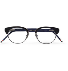 Thom Browne Square-Frame Acetate and Metal Optical Glasses