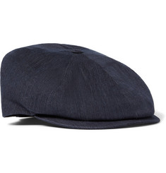 Lock & Co Hatters Denim Flat Cap