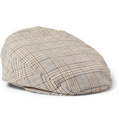 Lock & Co Hatters Plaid Cotton Flat Cap