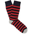 Corgi Striped Cotton-Blend Socks