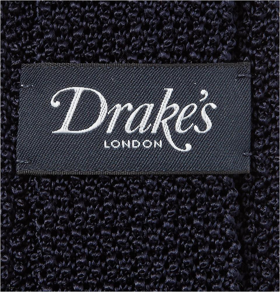 Drake's 6.5cm Knitted Silk Tie