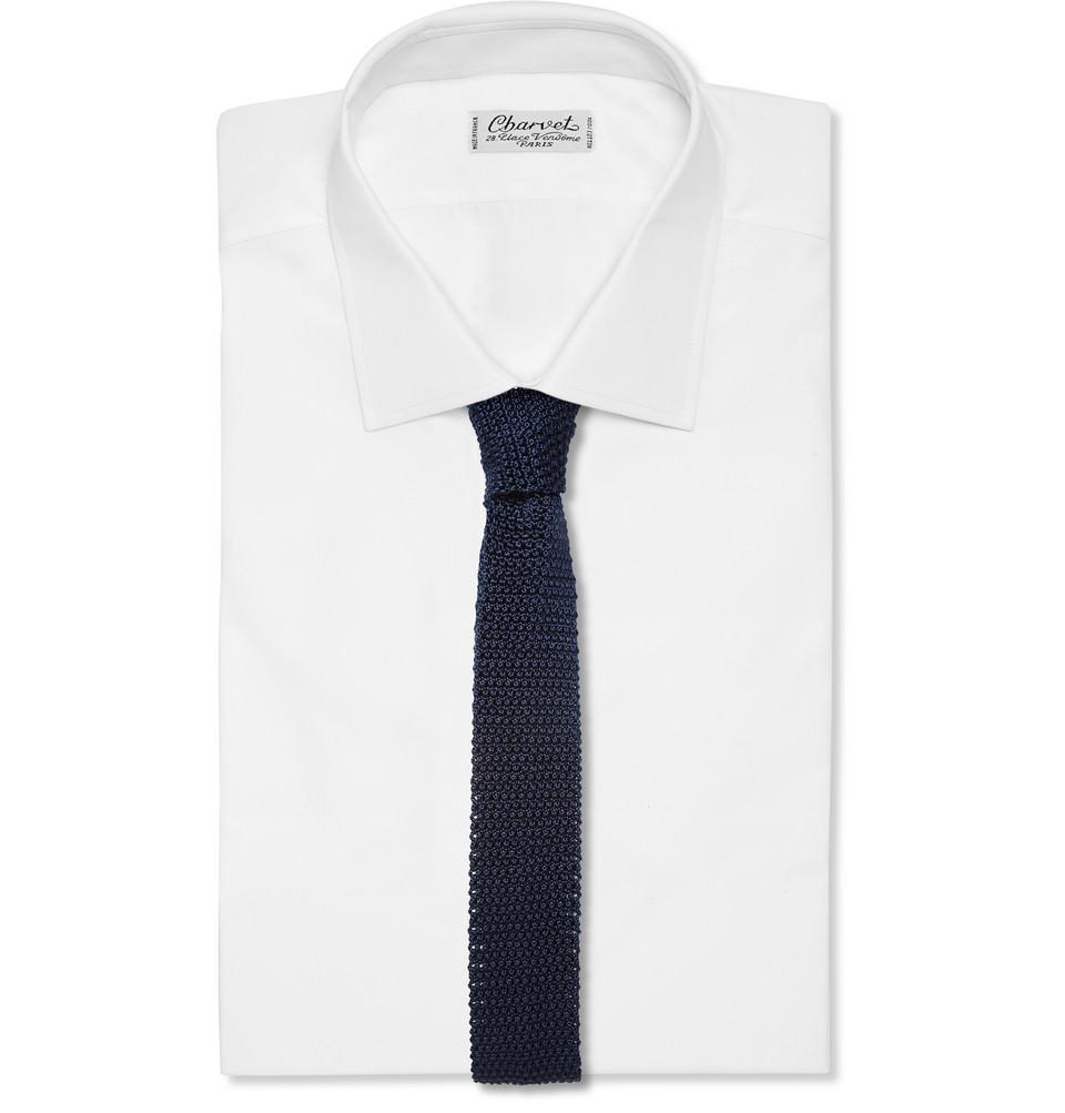Charvet 4.5cm Knitted Silk Tie