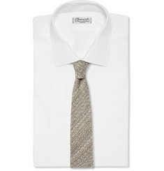 Marwood Flecked Woven-Cotton Tie
