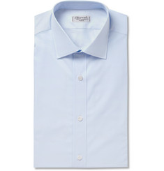 Charvet Slim-Fit Double-Cuff Cotton-Poplin Shirt