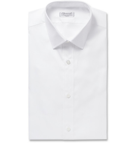 Charvet Slim-Fit White Royal Cotton Oxford Shirt