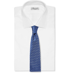 Charvet Embroidered Silk Tie