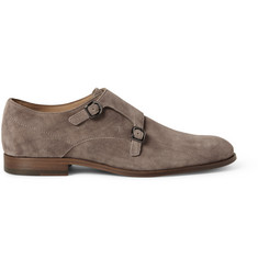 Tod's Brushed-Suede Monk-Strap Shoes