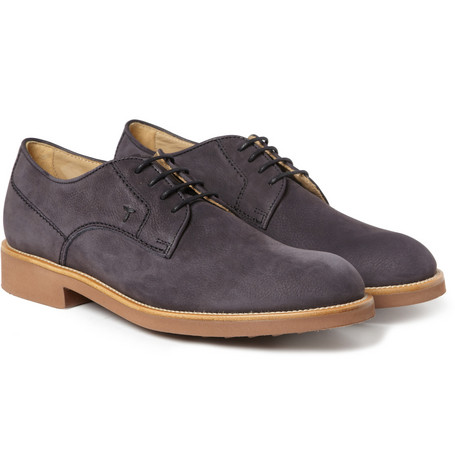 Tod's Nubuck Leather Derby Shoes