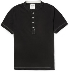 Billy Reid Cotton-Jersey Henley T-Shirt