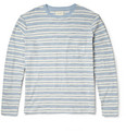 Billy Reid - Striped Cotton Long-Sleeved T-Shirt