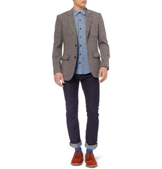 Billy Reid Lightweight Textured Cotton-Chambray Shirt
