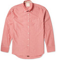 Billy Reid Button-Down Collar Cotton-Chambray Shirt