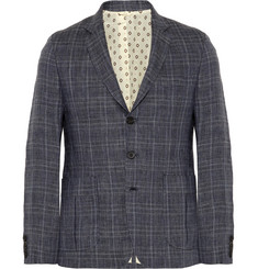 Billy Reid Checked Linen Blazer