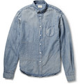 Simon Miller Camrose Topstitched Cotton and Linen-Blend Shirt