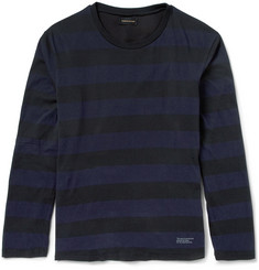 Undercover Striped Long-Sleeved Cotton-Jersey T-Shirt