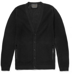 Undercover Knitted Cotton-Mesh Cardigan