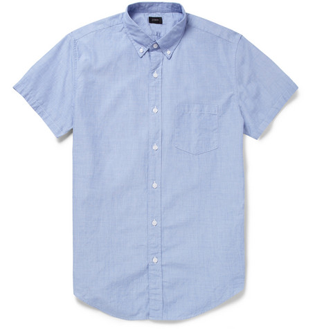 J.Crew Regular-Fit Cotton Short-Sleeved Shirt