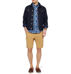 J.Crew Printed Button-Down Collar Cotton Shirt