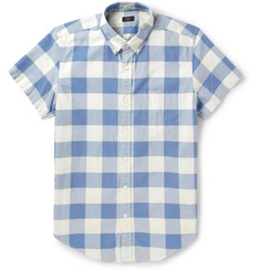 J.Crew Check Cotton Oxford Shirt