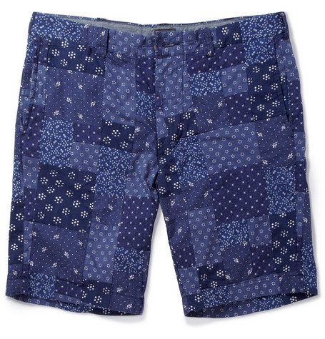 J.Crew Stanton Printed Patchwork Cotton Shorts